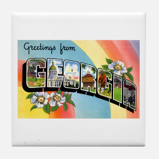 Georgia Greetings Tile Coaster