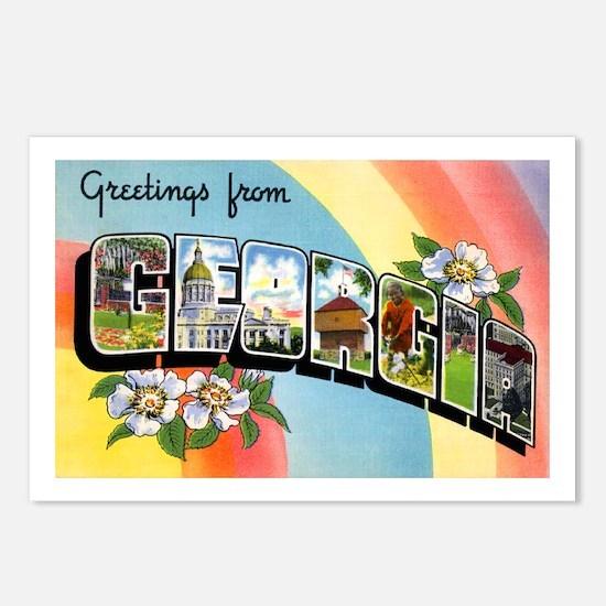 Georgia Greetings Postcards (Package of 8)