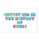 Cutest Kid-Rainbow-Pastel Postcards (package Of 8)