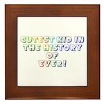 Cutest Kid-Rainbow-White Framed Tile