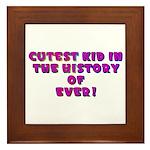 Cutest Kid-Rainbow-Pink Framed Tile