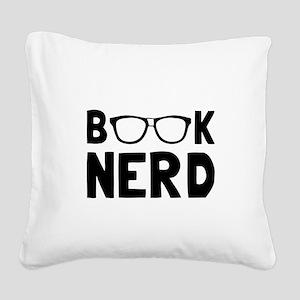 Book Nerd Square Canvas Pillow