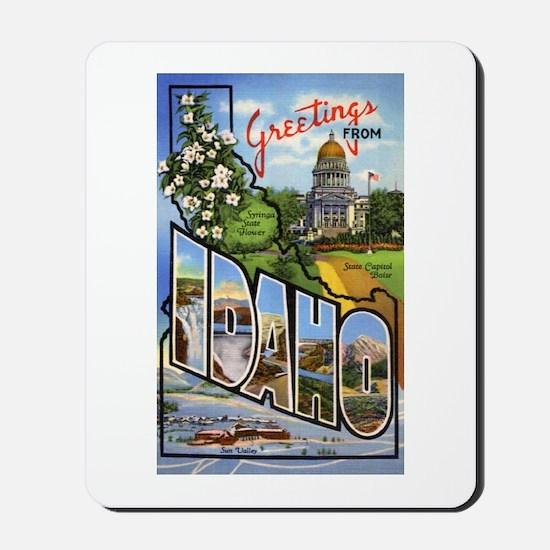 Idaho Greetings Mousepad