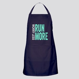 Worry Less, Run More Apron (dark)