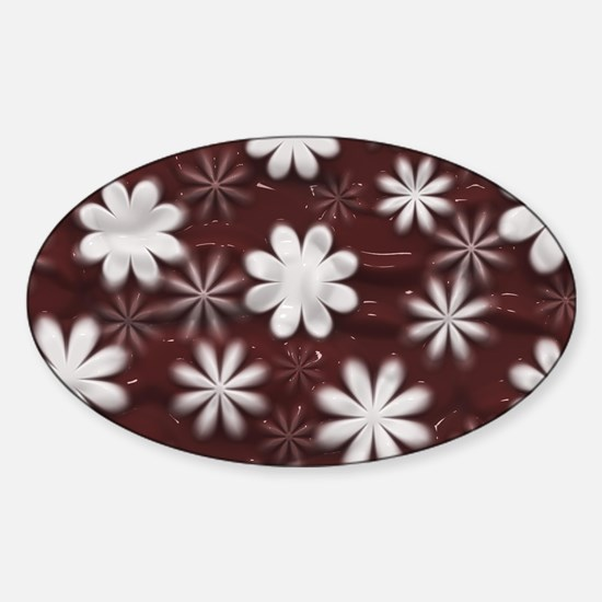 Melted Chocolate and Milk Flowers Pattern Decal
