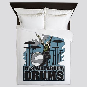 Its All About Drums Queen Duvet