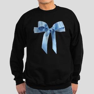 Baby blue satin bow Sweatshirt (dark)