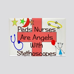 J Peds angels stetho PEACH PINK moon Magnets