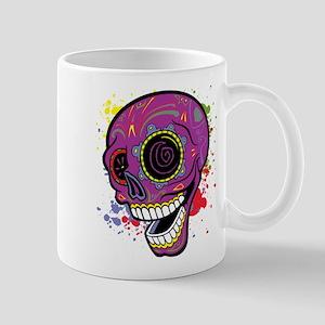 Purple Dia de Los Muertos Mug