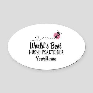 World's Best Nurse Practitioner Oval Car Magnet