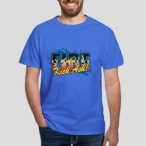 Firefighters Kick Ash! Dark T-Shirt