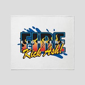 Firefighters Kick Ash! Throw Blanket