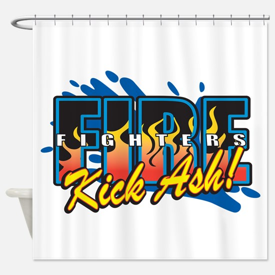 Firefighters Kick Ash! Shower Curtain