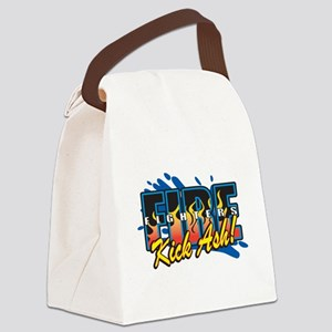 Firefighters Kick Ash! Canvas Lunch Bag