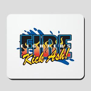 Firefighters Kick Ash! Mousepad