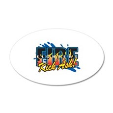 Firefighters Kick Ash! Wall Decal