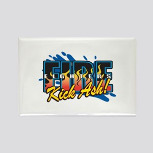 Firefighters Kick Ash! Rectangle Magnet