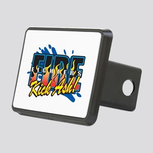 Firefighters Kick Ash! Rectangular Hitch Cover