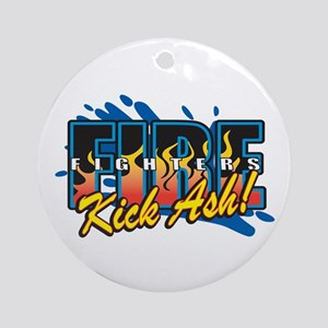 Firefighters Kick Ash! Ornament (Round)