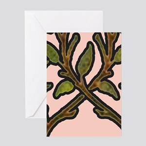 William Morris Vintage Tree Floral Design Greeting
