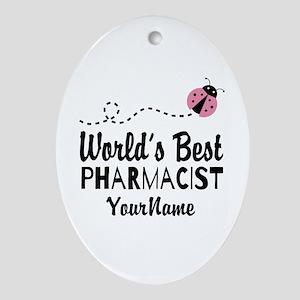 World's Best Pharmacist Ornament (Oval)