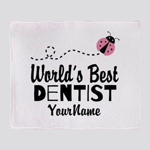 World's Best Dentist Throw Blanket