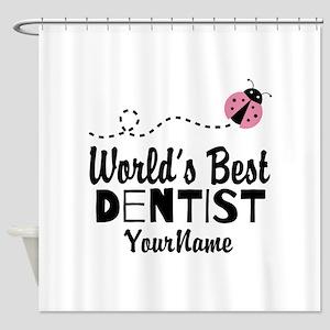 World's Best Dentist Shower Curtain