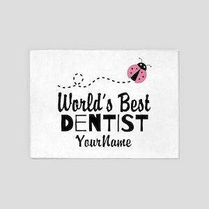 World's Best Dentist 5'x7'Area Rug