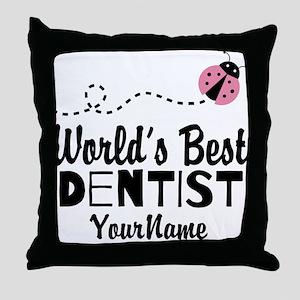 World's Best Dentist Throw Pillow
