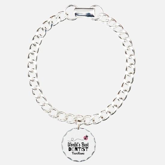 World's Best Dentist Charm Bracelet, One Charm