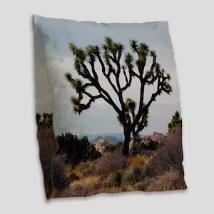 Joshua Tree Burlap Throw Pillow
