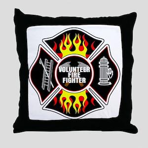 Volunteer Firefighter Throw Pillow