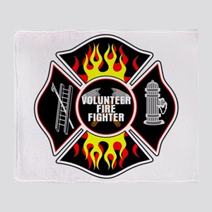 Volunteer Firefighter Throw Blanket