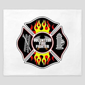 Volunteer Firefighter King Duvet