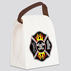 Volunteer Firefighter Canvas Lunch Bag