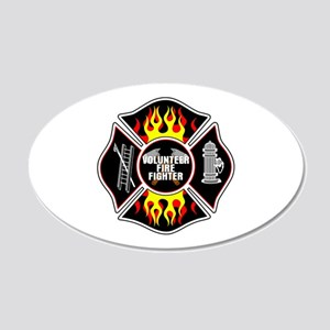 Volunteer Firefighter 20x12 Oval Wall Decal