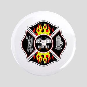 "Volunteer Firefighter 3.5"" Button"