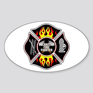 Volunteer Firefighter Sticker (Oval)
