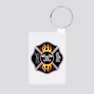 Volunteer Firefighter Aluminum Photo Keychain