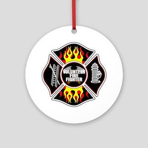 Volunteer Firefighter Ornament (Round)