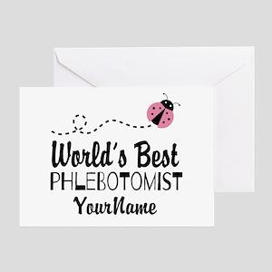 World's Best Phlebotomist Greeting Card
