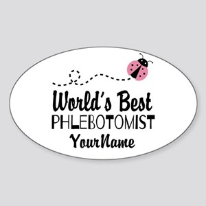 World's Best Phlebotomist Sticker (Oval)