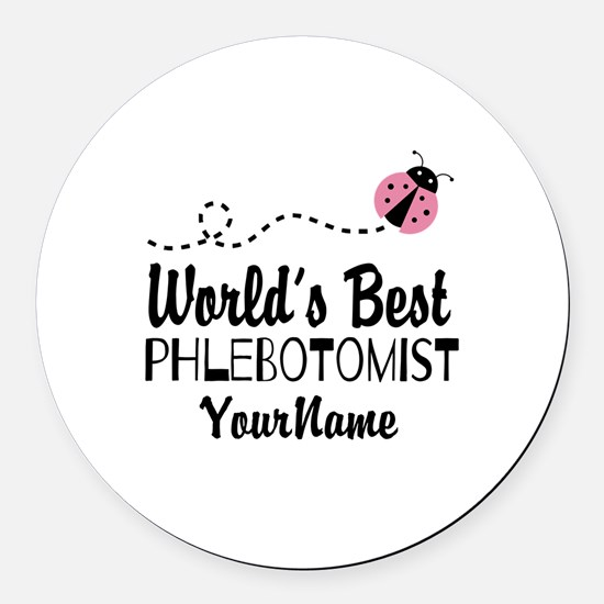 World's Best Phlebotomist Round Car Magnet