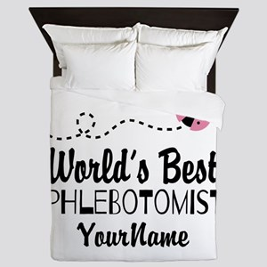 World's Best Phlebotomist Queen Duvet
