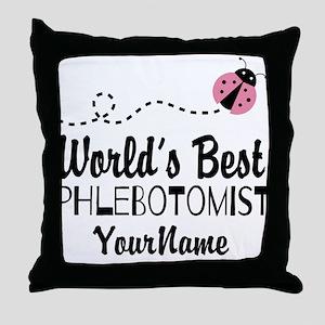 World's Best Phlebotomist Throw Pillow
