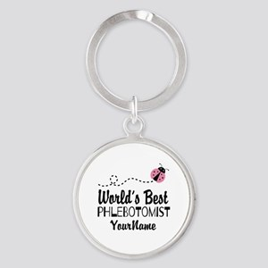 World's Best Phlebotomist Round Keychain