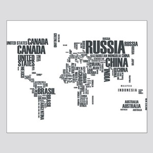 Typography Map Posters