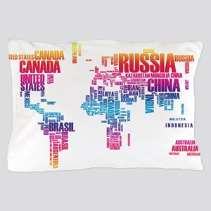 Typography Map Pillow Case