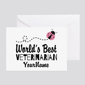 World's Best Veterinarian Greeting Card