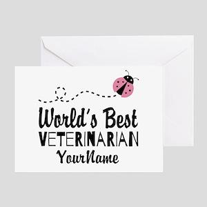 Worlds Best Veterinarian Greeting Card